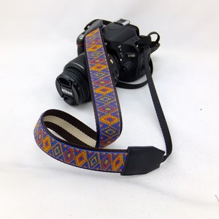 Camera strap can print personalized custom leather stitching national wind embroidery pattern 037