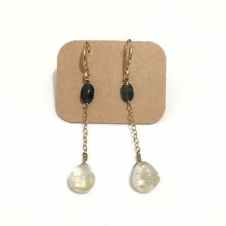 Simple natural stone earrings