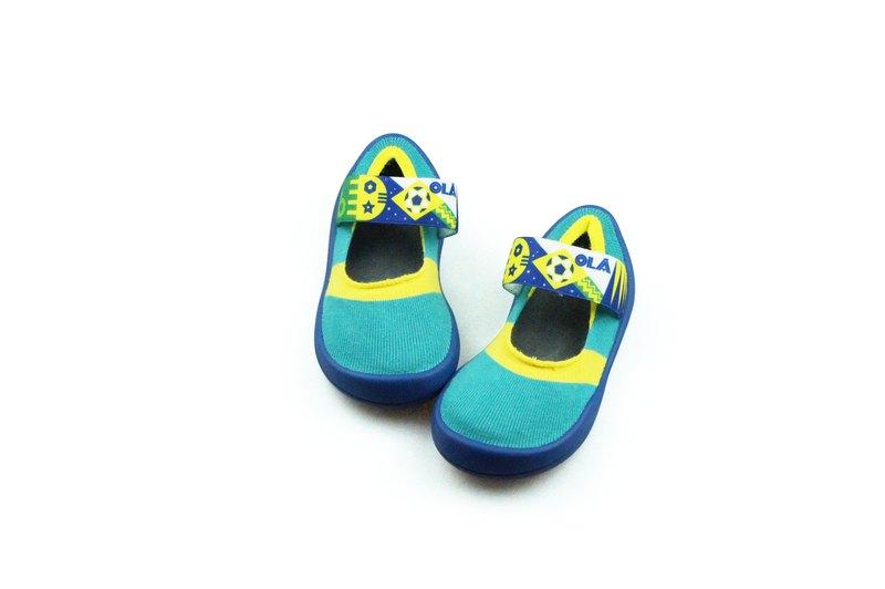 feebees學步鞋/襪鞋/室內外皆可穿 - 旗幟派/熱情森巴
