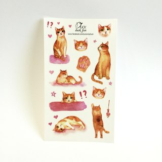 Pet cat transparent stickers