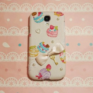 Cloth Japanese Macaron small dessert bow phone shell protective sleeve Apple iPhone 6+ 6 plus 5s 5 4s HTC Butterfly 2 Butterfly S eye M9