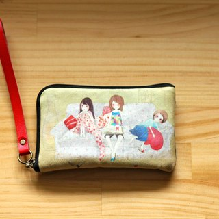 仨人旅行illustration mobile phone bag l Phone 4/5