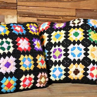 Pop style hand-woven pillow