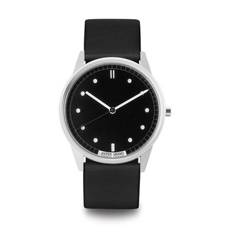 HYPERGRAND - 01 Basic Series - Silver Black Dial with Black Leather Watch