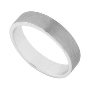 Fashion fog silver flat ring No. 9.5 (4mm)