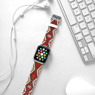 Apple Watch Series 1 , Series 2, Series 3 - Red Navajo Pattern Watch Strap Band for Apple Watch / Apple Watch Sport - 38 mm / 42 mm avilable