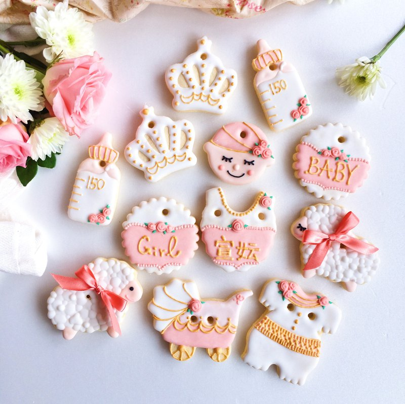 Gossip Crackers Cookies • Blogger Chiao Warm Shannon female baby hand-painted creative design gift set of 12 groups**Please contact us before ordering schedule**