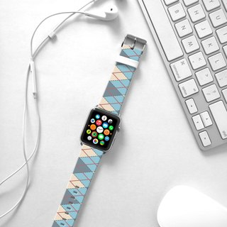 Apple Watch Series 1 , Series 2, Series 3 - Blue Argyle Pattern Strap band for Apple Watch / Apple Watch Sport - 38 mm / 42 mm avilable