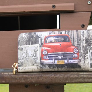 "Handmade Gifts ""double sandwich long list"" retro cars wallet long clip / New Year Valentine's Day gift exchange"