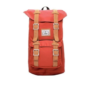RITE | Traveler Bag - Nylon is red | after the original removable backpack