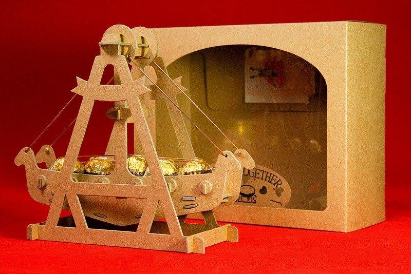 [巧克力遊樂園] 金莎搖搖船禮盒(含金莎款) / 情人節 聖誕節 畢業禮品 生日禮物 交換禮物首選