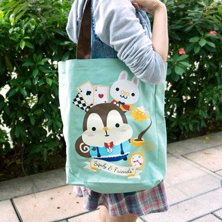 Squly Canvas Tote Bag (Alice in Wonderland) - E019SQB