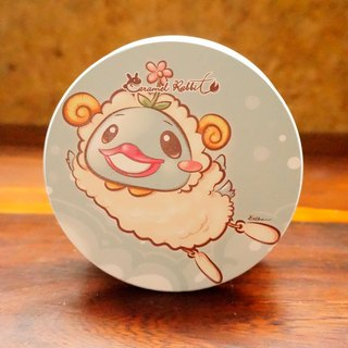 Caramel Rabbit - absorbent ceramic coaster ★ sheep baa series - slumped chirp duck