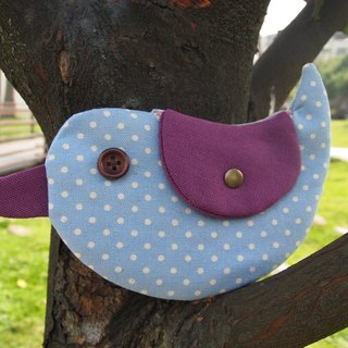 Blue and little happiness Bluebird / purse