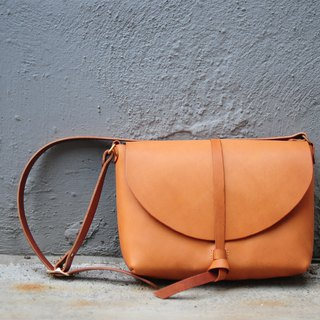 Hand Stitched Leather Shoulder Bag/ Carry On Bag