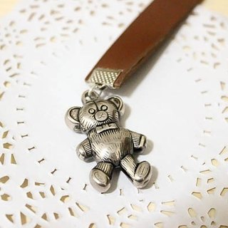 {Tree Bear} small koala * leather long bookmark.