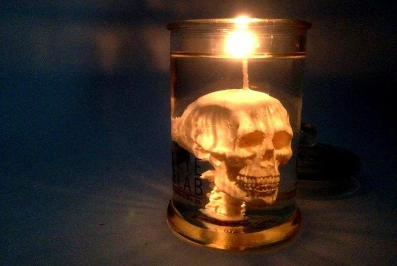 Skull in Jar Candle – EYE LAB