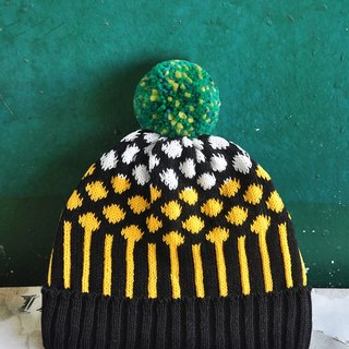 Pineapple Detachable PomPom Beanie Hat