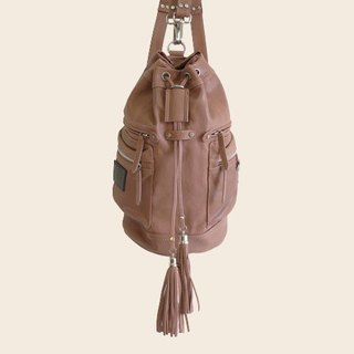 ► Jennifer | shoulder bag ● sand color / Roan cylinder backpack