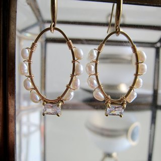 ∴Minertés = pearl, zircon, simple brass earrings = ∴