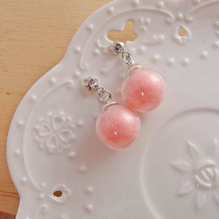 Dream crystal ball. Pink x clip earrings, pin earrings