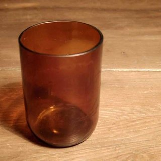 Vintage 9 cm brown glass painted brown glass inlay Down
