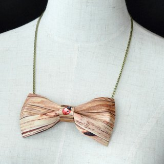 Wood grain necklace, wood bow tie, tan bow tie, handmade, custom bow tie,