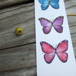 Butterfly - hand-painted watercolor bookmark (original)