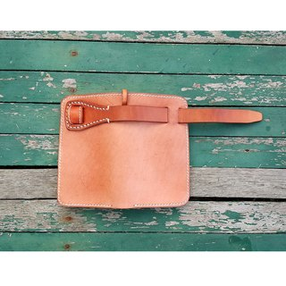 Bifold Leather Wallet / Mens Leather Short Wallet