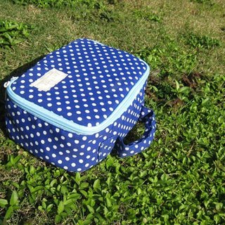 Dot multi-function storage universal bag / blue