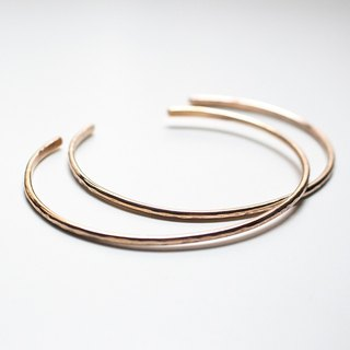 Simple series - rose copper knock flower C type thin bracelet