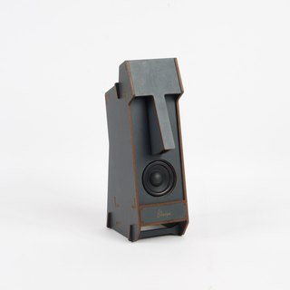 Stereo Puzzle - Mono Moai Speaker (Color: Gray)