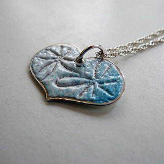 Sweetheart ~ mint sweetheart Christmas custom enamel burn sterling silver pendant necklace, happiness!