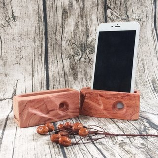 Wood for mobile phones sound reinforcement Block - geometric wind