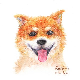 7吋Pet Watercolors/Multimedia Custom Painting/Pet Portrait/Cat/Dog/Custom/Gift (Without Box)