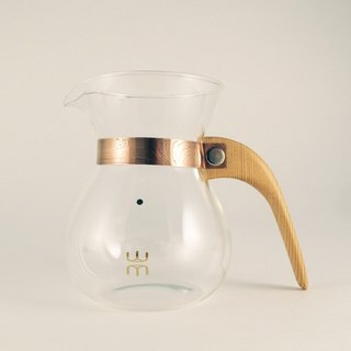 Lu La Rosee wood feel coffee pot / second generation / simple paragraph / Taiwan beech / need to buy