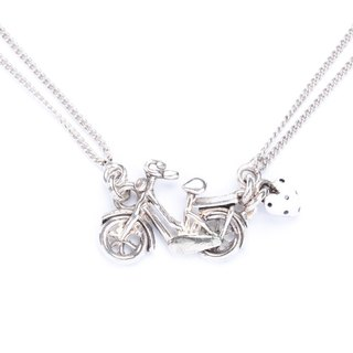 [Taratata Paris, France cycling series] handmade jewelry necklace brand bicycle bike cold enamel paint European style handmade jewelry