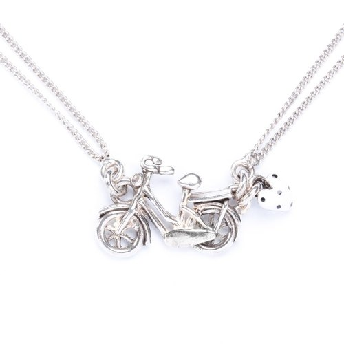 Taratata paris france cycling series handmade jewelry necklace taratata paris france cycling series handmade jewelry necklace brand bicycle bike cold enamel mozeypictures Image collections