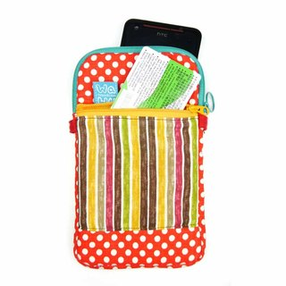 WaWu Mobile phone pocket (red dot cotton fabric)