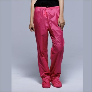 Paris Rainbow ~ lightweight wrap-around shoe rain pants / pink peach