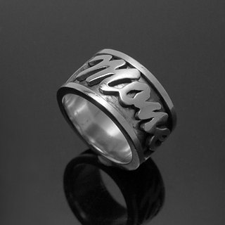 ReShi / English word transfer ring / 925 sterling silver / custom handmade custom / lover friends family gifts