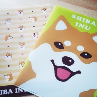 [Barn house] Shiba L-shaped folder (green) a4 paper applies