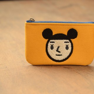 [BestFriend] waterproof canvas purse (yellow - female head)