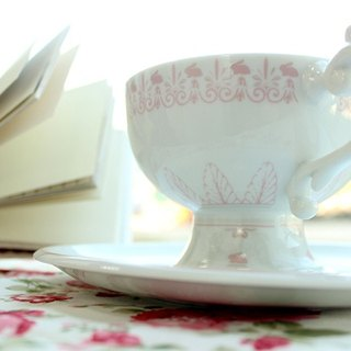 Peek a Boo cup and saucer set -Rabbit  Bling