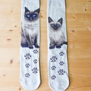 JHJ Design Canada brand series of high-saturation knitting socks cat Siamese cat (female) cute kitty cat