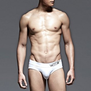 UNDERNEXT2 white classic low-waist briefs