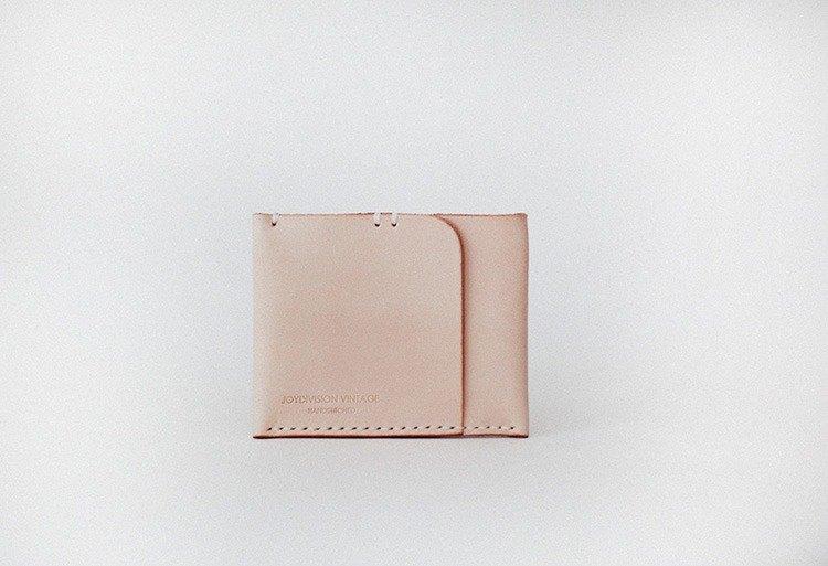 joydivision 壹卡位零錢包 原色 真皮 手工 簡約 設計師 卡包錢包