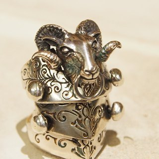 [Doll] armor Xia Bomi Silver Series - Yang Nan armor ring, with a special shape to Sheepshead modern interpretation of the classic style knight, 925 handmade silver