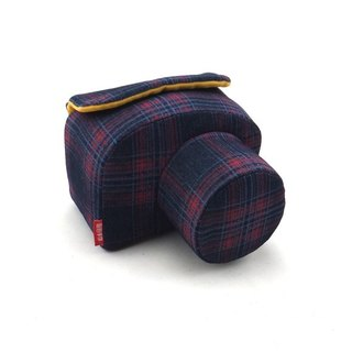 Camera bag (for your camera) the amount of manual machine custom personalized wine red plaid 009