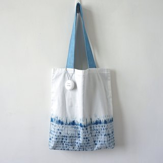 S.A x Straw, Indigo dyed Handmade Abstract Pattern Tote Bag